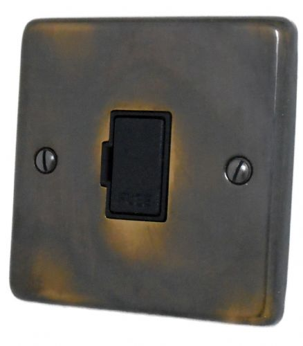 G&H CAN90B Standard Plate Polished Aged Brass 1 Gang Fused Spur 13A Unswitched